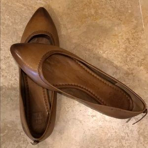 Women's Frye Brown Leather Flats 7